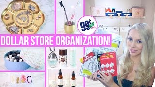Dollar Store Organization Ideas! Easy Ways to Organize on a Budget