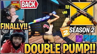 "Streamers USE ""DOUBLE PUMP"" *BACK* (New Method) in Season 2 Fortnite"