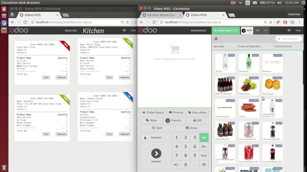 Odoo POS Restaurant Kitchen - YouTube