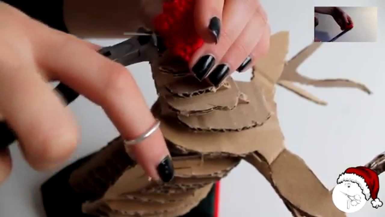 DIY: Reno de Cartón (Christmas Edition ❄) - YouTube