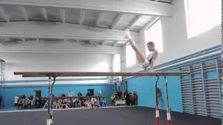 Спортивная гимнастика.Мужчины. Брусья. Gymnastics. Men. Bars