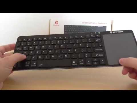 mini wireless keyboard with touchpad instructions