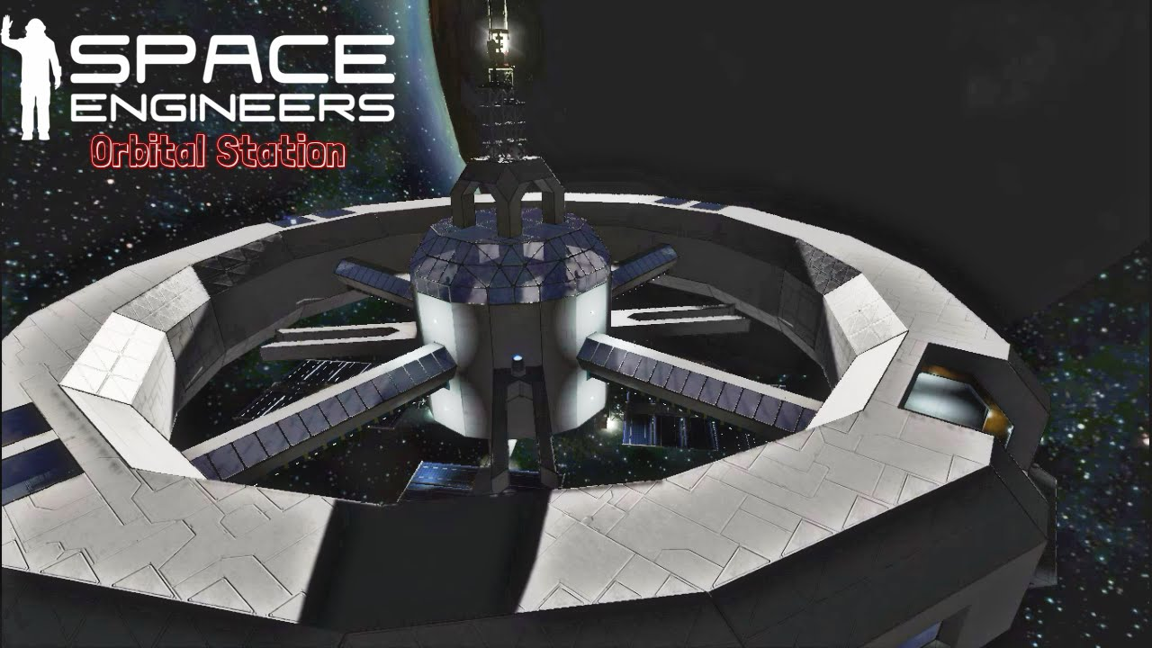 space engineers orbital station showcase large rotating. Black Bedroom Furniture Sets. Home Design Ideas