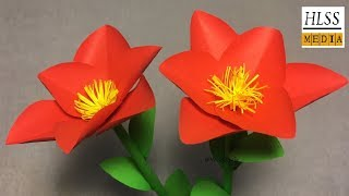 Super easy way to make simple flower with paper| Paper flower tutorials