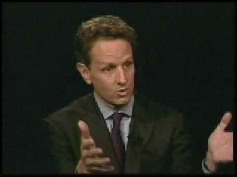 Tim Geithner interviewed by Rose pt 1 of 6