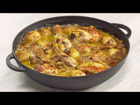 Обычная курица в сковороде и получается божественно! Рецепт от Всегда Вкусно!