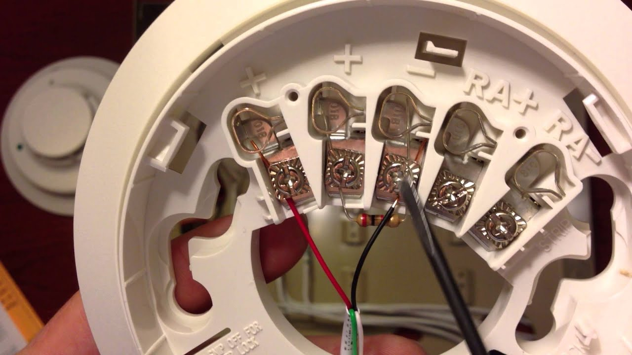 maxresdefault chap 6 vista panel install connecting a single 2wire smoke youtube honeywell smoke detector wiring diagram at nearapp.co