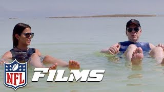 Katie Nolan & NFL Legends Go From Climbing Masada to Floating in the Dead Sea | NFL Films Presents