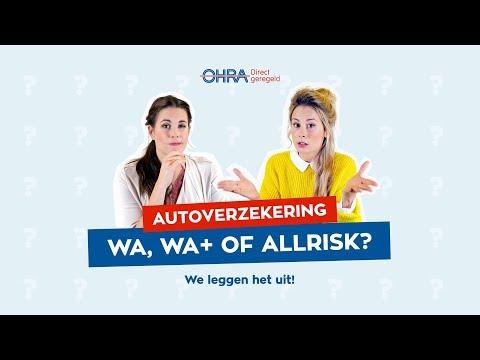 autoverzekering wa wa of allrisk