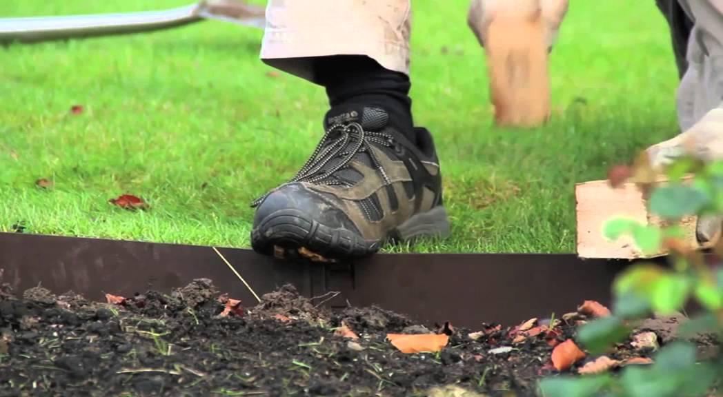 Everedge Garden Steel Edging  How to Install  YouTube