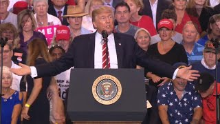 Trump defends Charlottesville remarks at Phoenix rally