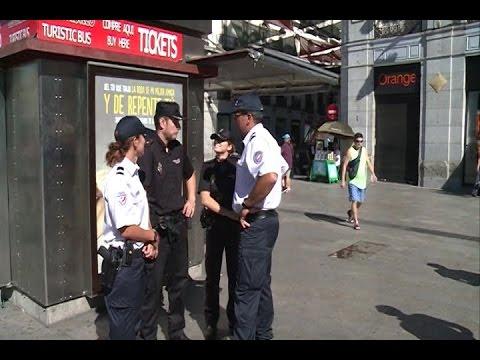 Policía francesa y española patrullan juntos en Madrid