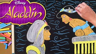 Let's Draw Aladdin & Jasmin ♫ 8 Hours of Soothing Disney Lullabies