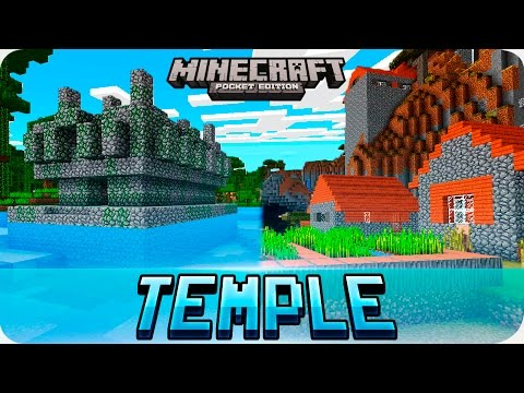 Minecraft PE Seeds - Double Jungle Temple & Savanna Village Seed - MCPE 1.2 / 1.1