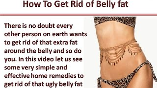 How To Lose Belly Fat Without Exercise or Diet QUICKLY