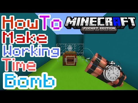 HOW TO MAKE WORKING TIME BOMB MCPE | Minecraft PE