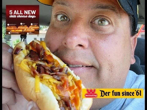 Wienerschnitzel Buffalo Bacon Chili Cheese Dog Review ...