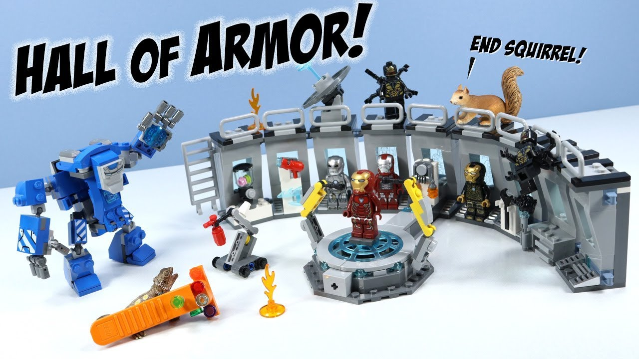 LEGO Avengers Endgame Iron Man Hall of Armor Set Build ...