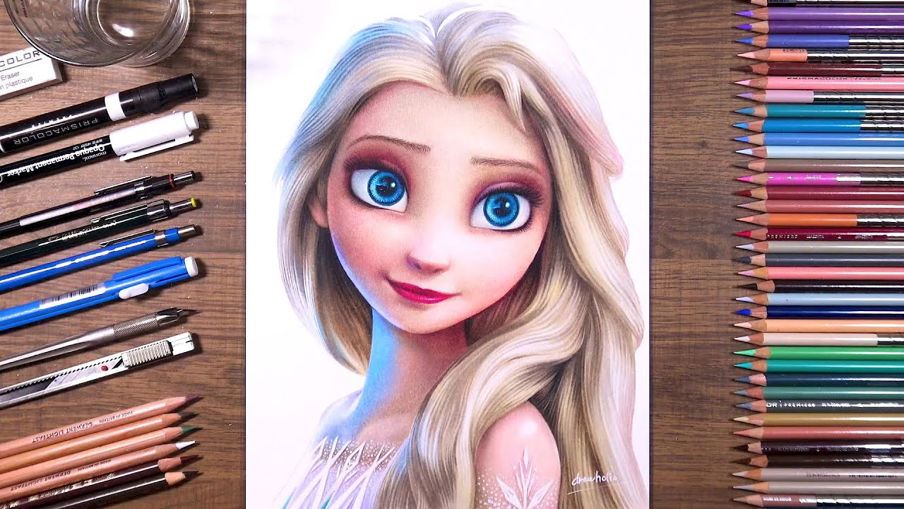 Drawing Frozen 2 - Elsa   drawholic