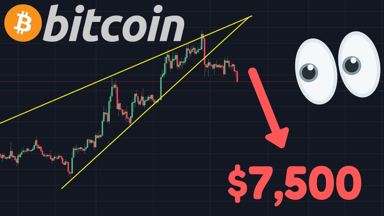 BITCOIN FALLING RIGHT NOW!!! $7,500 TARGET?!   BTC Accumulation On The Rise!