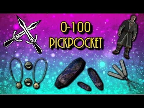 Skyrim How To Get Level 100 Pickpocket FAST/EASY