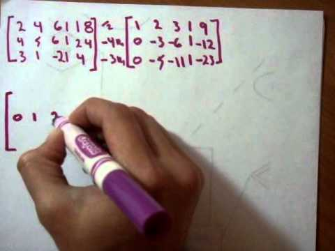 Matriz Gauss-Jordan Reduccion por renglones