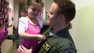 Airman home from deployment surprises family, then friends