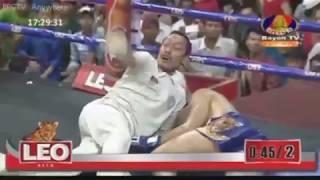 មុឺន សុភា ទាត់ថៃសន្លប់ធំត្រឹមទឹកទី2 | Bayon TV Boxing 28-01-2018