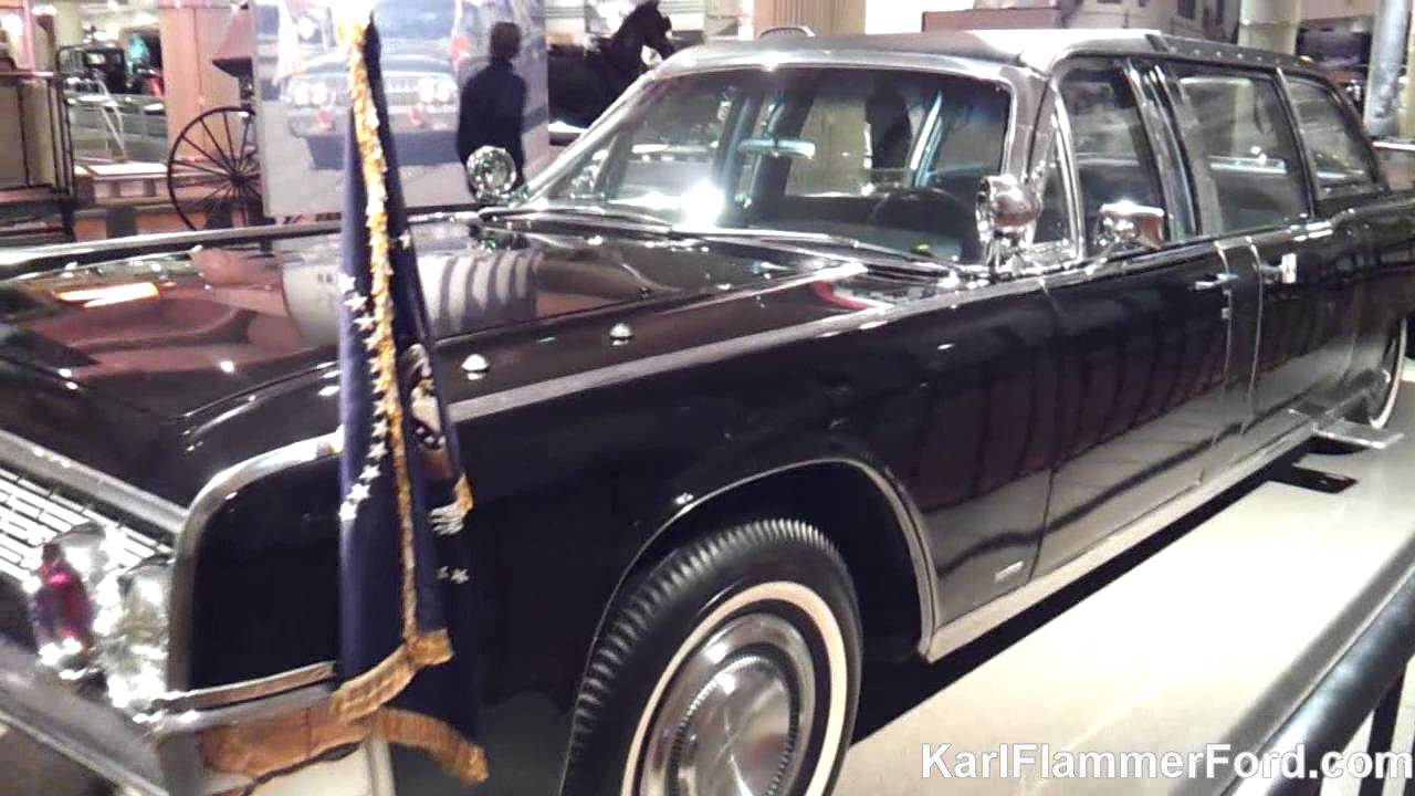 Karl Flammer Ford >> Henry Ford Museum: Kennedy Presidential Limousine - YouTube