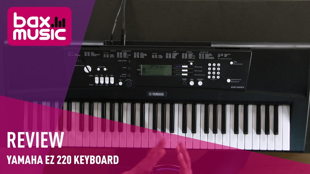 yamaha ez 220 keyboard review youtube. Black Bedroom Furniture Sets. Home Design Ideas
