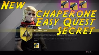 How To Cheese The Chaperone Quest Easily! Destiny The Chaperone Jolly Holiday Quest