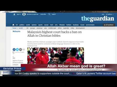 Primetime education! David wood said 'Allah Akbar' means 'God is great' True or false?