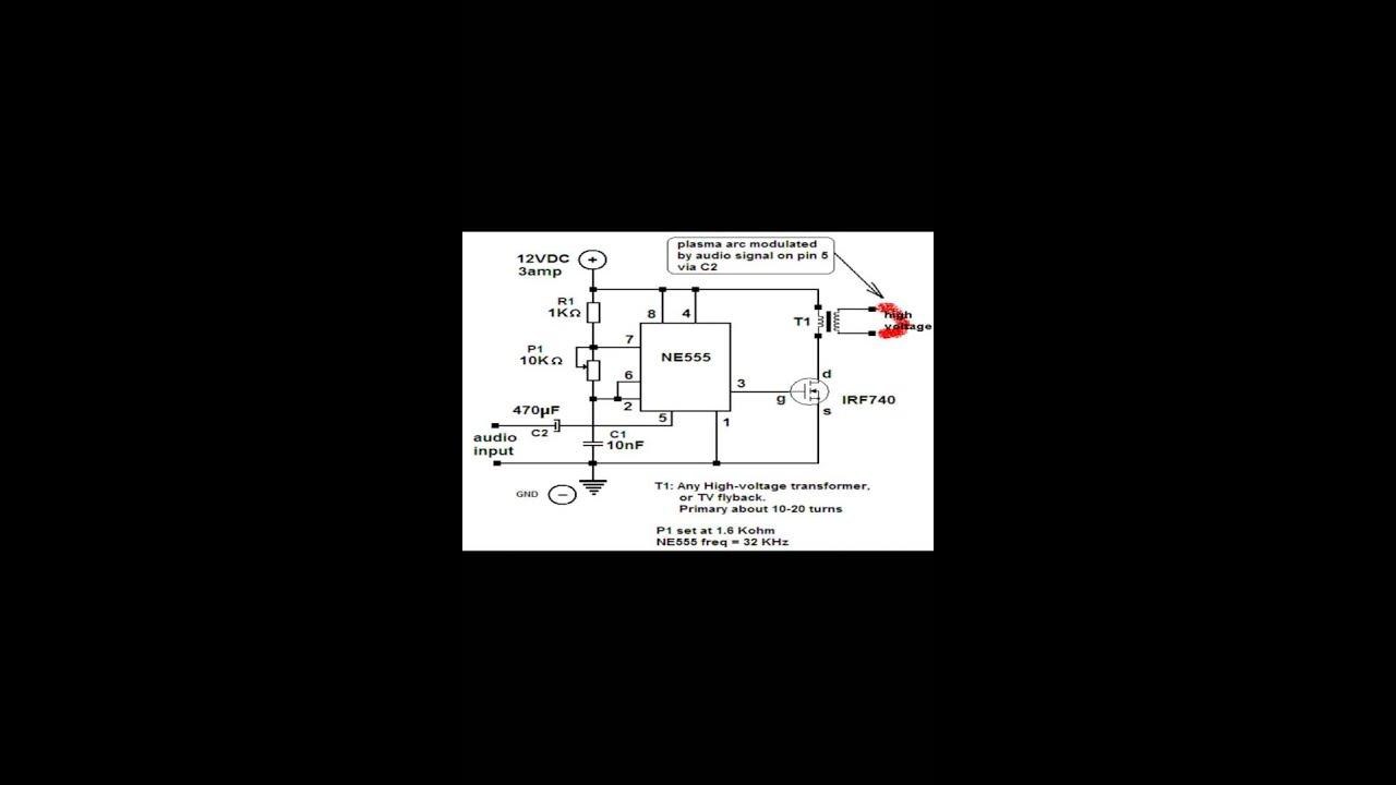 Plasma Speaker Schematic Diagram Zvs Driver Ac Generator On Home Circuit Plazma Zvunik Shema Youtube