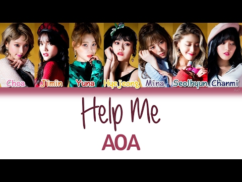 AOA (에이오에이) - Help Me (너 때문에) (Korean Version) | Han/Rom/Eng | Color Coded Lyrics |