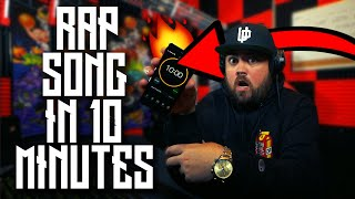 MAKING A RAP SONG in 10 MINUTES!!!