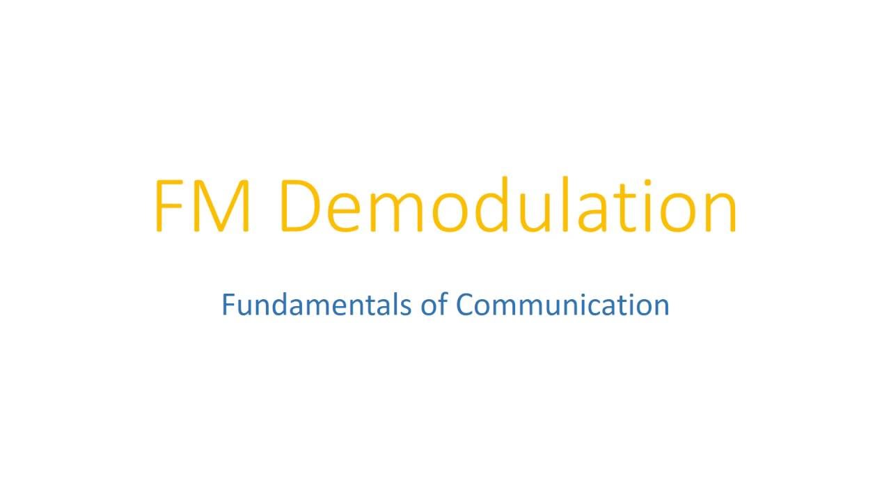 Fm Demodulation Matlab Simulation Simulink Software Youtube Frequency