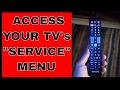 Access your TV service menu