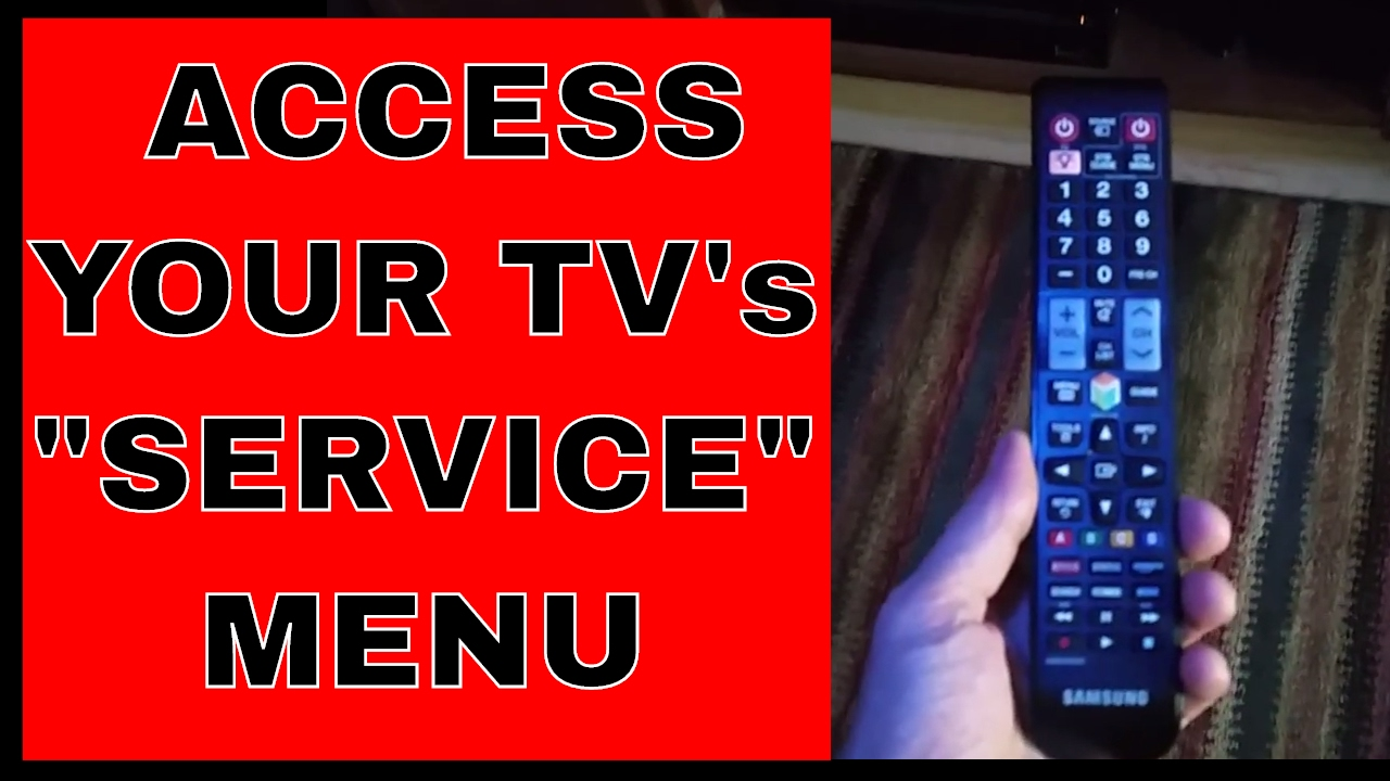 Access your TV service menu