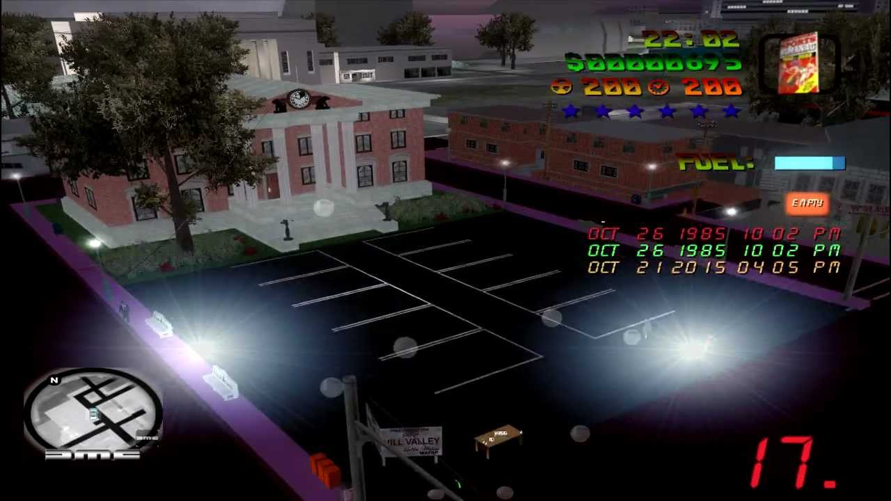 GTA Vice City Back to the Future Hill Valley Game 100 Free Download