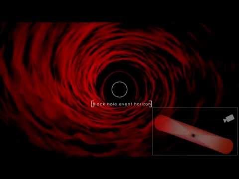Supercomputer Animation of a Black Hole / Simulated Stellar-Mass Blackhole / Event Horizon