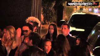 Tokio Hotel arriving at Pink Taco in Hollywood