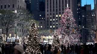 Christmas lights and decorations in New York City