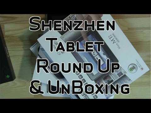 Massive Shenzhen Tablet Round Up and Unboxing