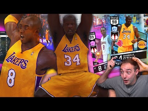 NBA 2K17 My Team WILDEST FINISH EVER! NEVER SEEN THAT BEFORE! SHAQ KOBE DUO IS INSANE!!!