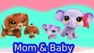 LPS Dachshund Elephant Mom Baby Sets Mommies Babies Bobblehead Littlest Pet Shop Review