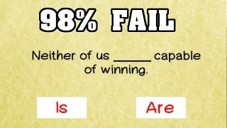 98% Will FAIL This SIMPLE GRAMMAR TEST - IQ Quiz