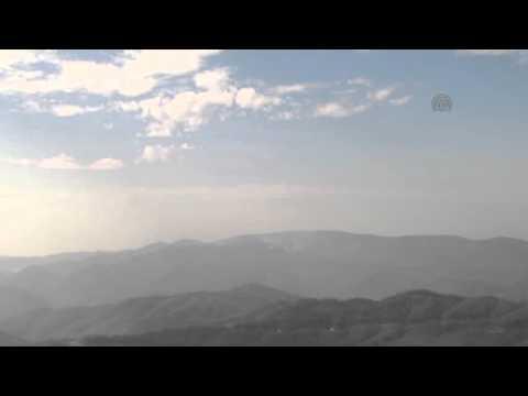 Russian and Assad regime warplanes bomb Bayirbucak Turkmen region in Syria