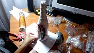 Декупаж свадебной бутылки Шампанского МАСТЕР КЛАСС