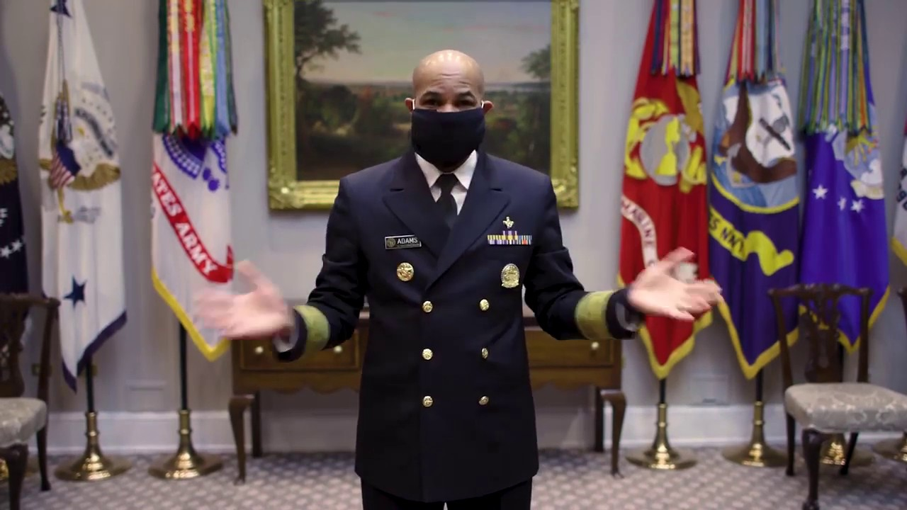 U.S. Surgeon General shows how to make a quick and simple face covering