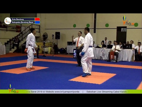 Live Streaming brilyansportindo pratama -PORDA Jawa Barat 2018 Cabor Karate